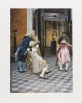 Taidejäljennös Taiteentuntijoita Louvressa